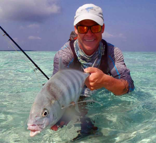 Banded Trevally on Fly