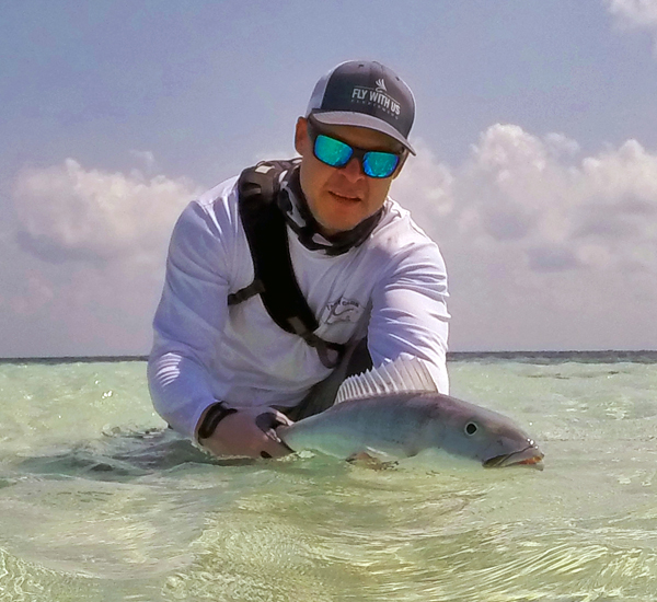 Green Jobfish on Fly