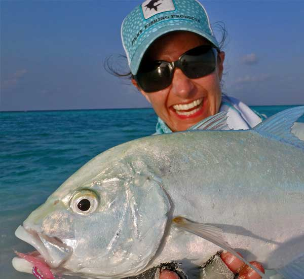 Bluefin Trevally on Fly